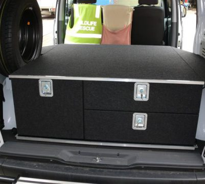 Custom Drawer Unit in Mercedes Vito