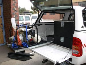Slides for Vehicle Storage