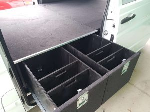 Double side drawers for vans
